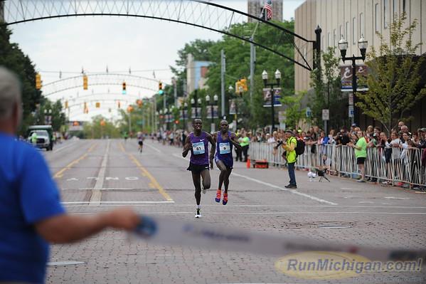 10 Mile Top Men's Finishers - 2015 Crim Festival of Races