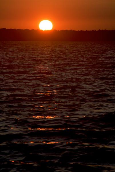 The sunset over Lake Superior Tony was enjoying.