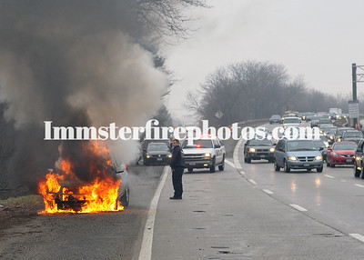 BETHPAGE FD CAR FIRE RTE 135 1-30-13