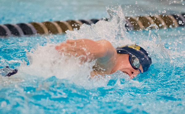 10/02/19 Wesley Bunnell | StaffrrBulkeley/HMTCA girls swimming at Newington on Wednesday afternoon. Gabby Targonska in the 100 yard freestyle.