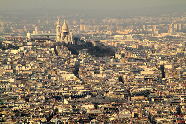View Sacré Coeur Cathedral From Montparnasse Tower 1