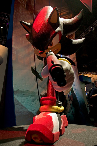 SEGA's presence continues to shrink with each E3.  No longer a hardware manufacturer, SEGA has moved to the South Hall...and their focus has blurred.  Sonic with guns?  Seriously?  Well, technically, this is Shadow the Hedgehog...but still!?!?