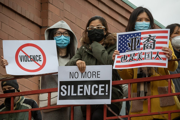 Stop Violence Against Asians - Rally in Chicago's Chinatown - March 27th 2021