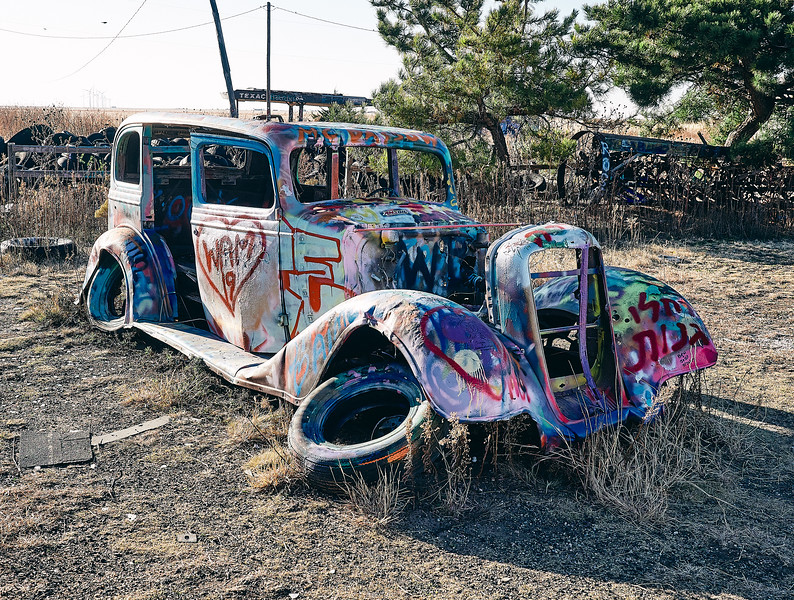 Route 66 - VW Slug Bug Ranch, Panhandle, Texas
