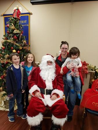 Morrilton Santa Visit Dec. 2019