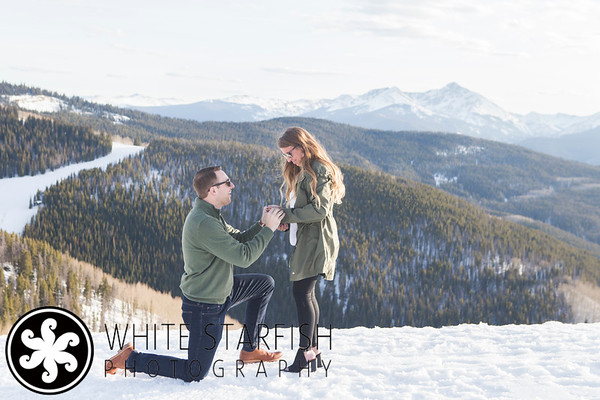 Vail Mountain Top Wedding Proposal - Doug and Cara