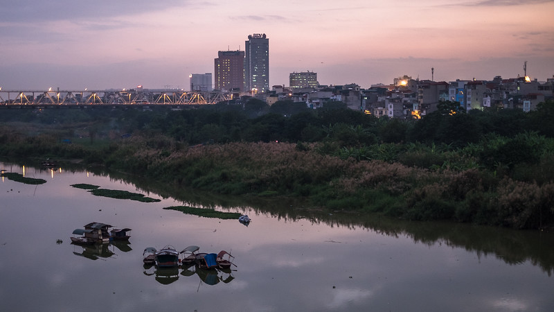 Hanoi from the Long Bien Bridge