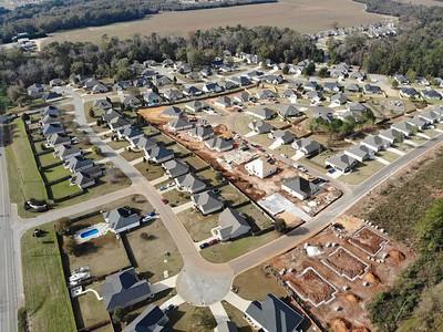 Homes in the Avington Glenn Subdivision