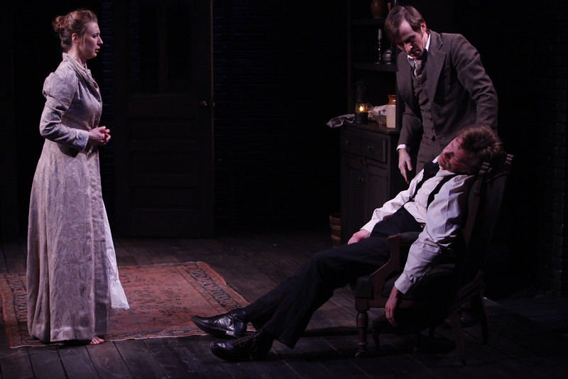 Julia Coffey, Nick Cordileone and Eric Martin Brown in THE WIDOWING OF MRS. HOLROYD by D.H. Lawrence 
