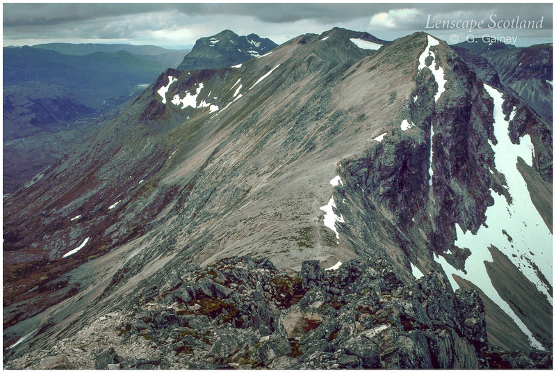 Beinn Eighe ridge, looking west (scanned from a1984 slide)
