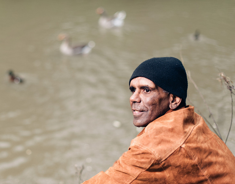 Indigenous Australian Man on a River Bank