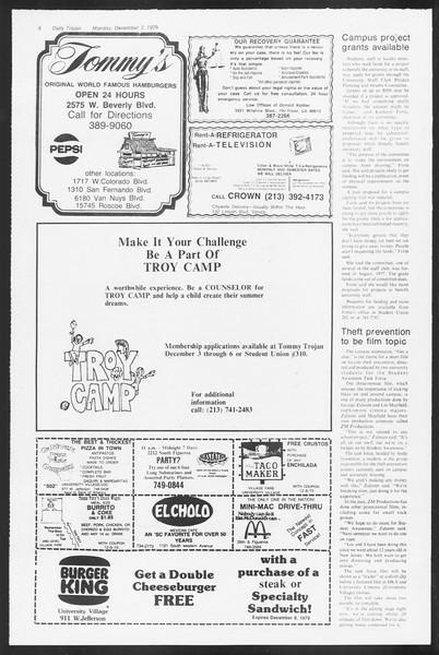 Daily Trojan, Vol. 87, No. 51, December 03, 1979
