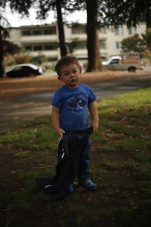 Fun in the Park, Darryl, Caroline, Andrew, Redwood City, CA (20151108)