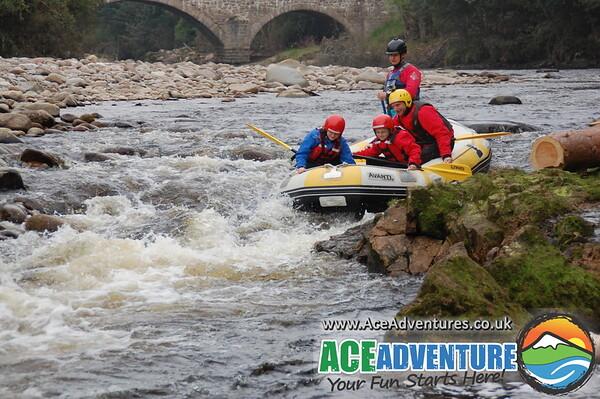 21st September Family rafting on the Rivr Findhorn,Near Aviemore