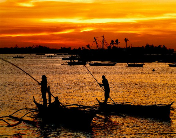 Sunset Fishing, Philippines