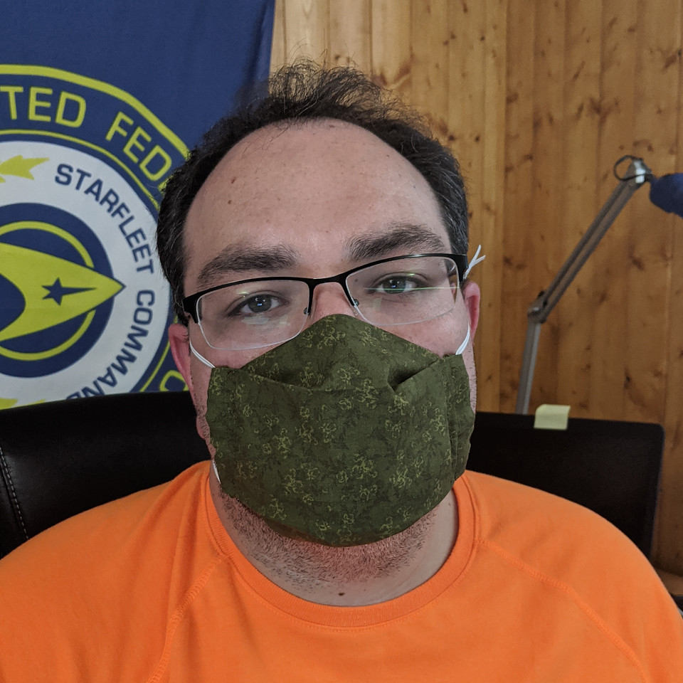 Matt in the Crafty Daily mask