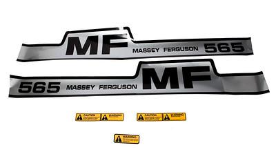 MASSEY FERGUSON 565 SERIES BONNET DECAL SET
