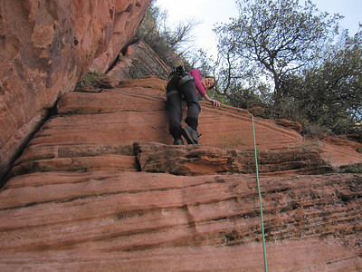 Lady Mountain - P3, Zion NP UT, 4/3/2014