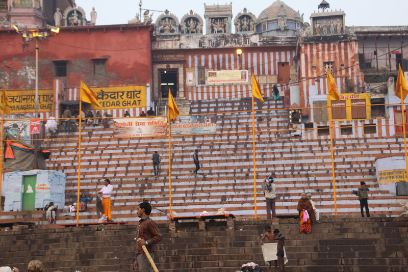 Ghats (steps) on the Ganges