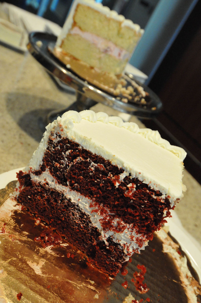 . Two of the three Betty Crocker wedding cake possibilities were strawberry mousse, foreground, and the Queen of Cakes, Bailey\'s Mousse. (Pioneer Press: John Doman)