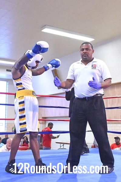 Bout 1 Kenya Rainey, Red Gloves, Gladiator BC, Chicago, IL -vs- Cordell Powell, Blue Gloves, Bob Davis BC, Cleveland, 132 lbs