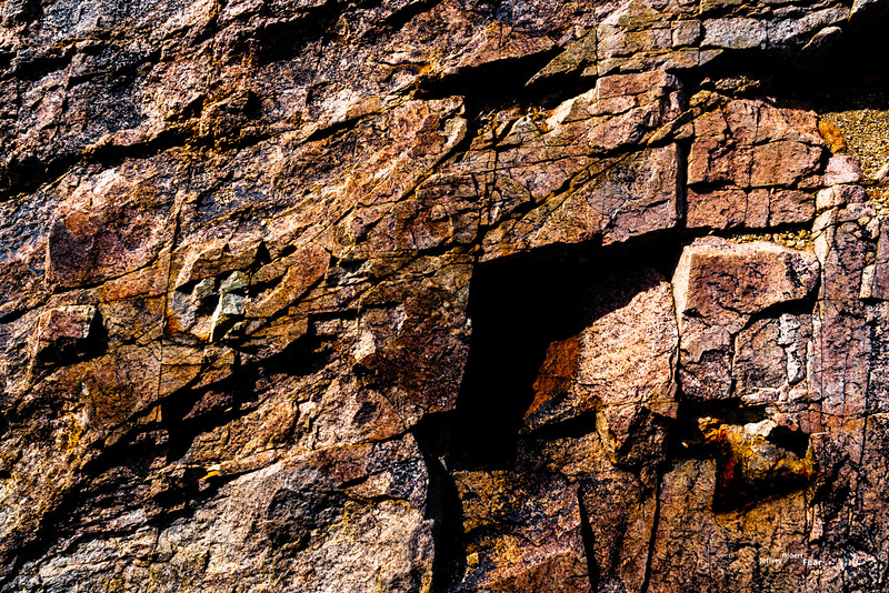 Fractured Rock with Diagonal