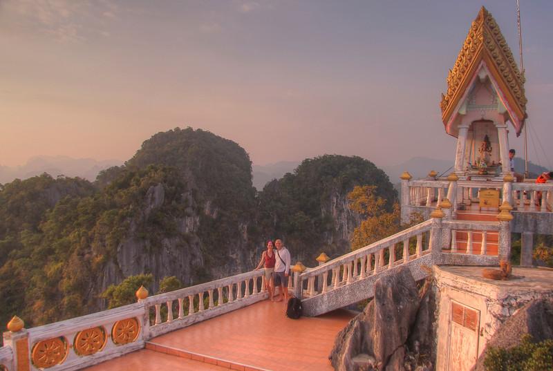 We made it!!!  Atop Tiger Temple (Wat Tham Seua) - Krabi
