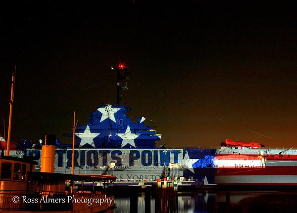Light Art Grand Tour USA USS Yorktown
