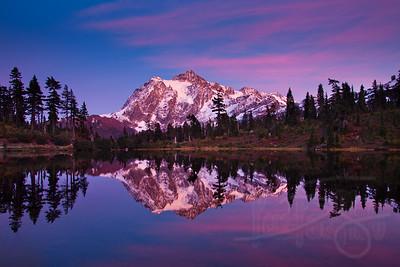Mt. Shuksan and Picture Lake.