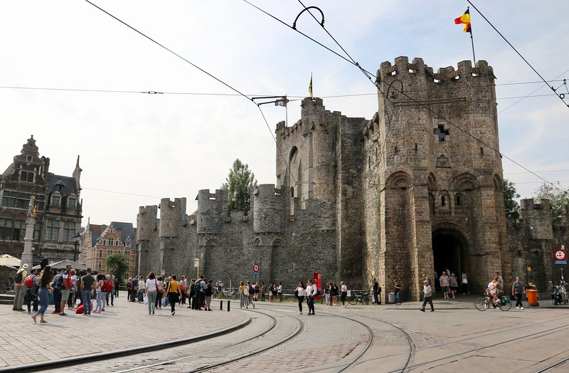 """Gravensteen or """"Castle of the Count"""", dates back to the 12th century - Ghent, Belgium"""