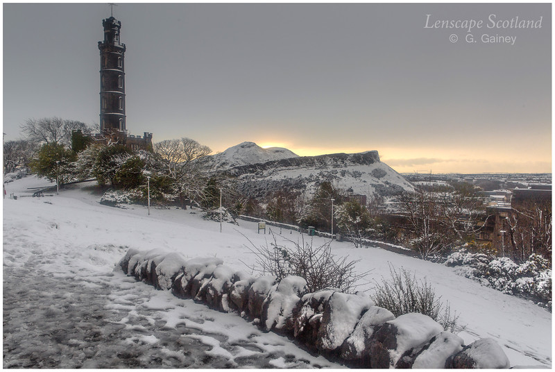 Nelson Monument, Arthur's Seat and Salisbury Crags