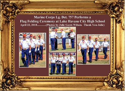 4-22-18  Flag Folding Ceremony at LHCHS