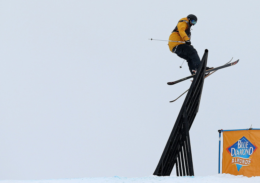 . Oscar Wester of Sweden competes during finals for the  FIS Ski  Slopestyle World Cup at U.S. Snowboarding and Freeskiing Grand Prix on December 21, 2013 in Copper Mountain, Colorado.  (Photo by Mike Ehrmann/Getty Images)
