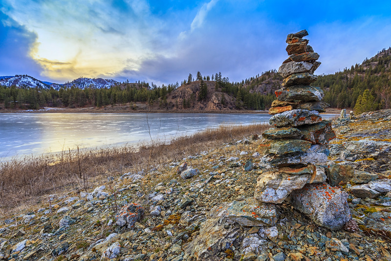 Day 63: Cairn at Mahoney Lake