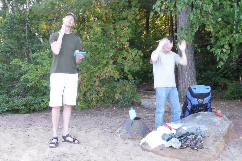Sunscreen Ritual. Campsite 15-15, lac Poulter, La Vérendrye Wildlife Reserve