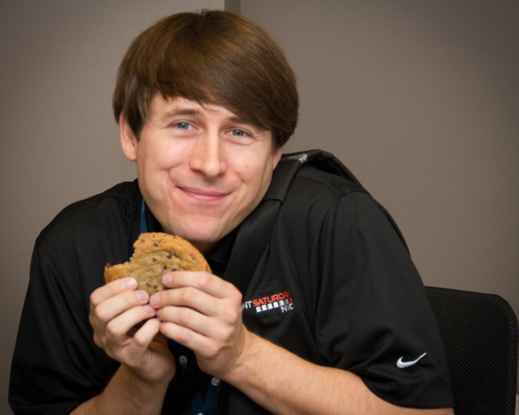 It's cookie time!  Richard has a close relationship with his cookie.