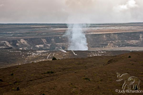 Halema`uma`u Crater~Kilauea Caldera~2-2011