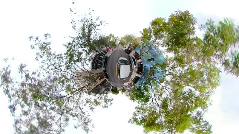 Tiny planet Miami Design District stabilized