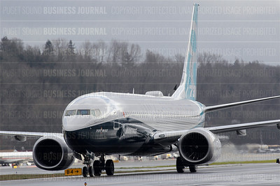 Boeing's 737 MAX 8 completes its maiden flight at Boeing Field, Seattle