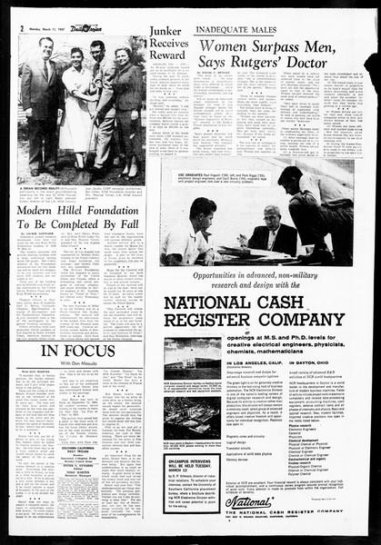 Daily Trojan, Vol. 48, No. 90, March 11, 1957