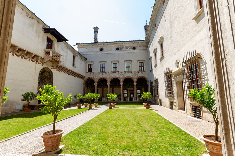 Inside courtyard of Magno Palazzo in Buonconsiglio Castle