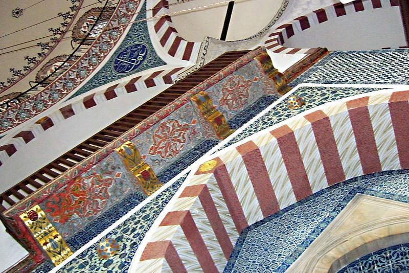 22-Rustem Pasha Mosque, İznik tiles.