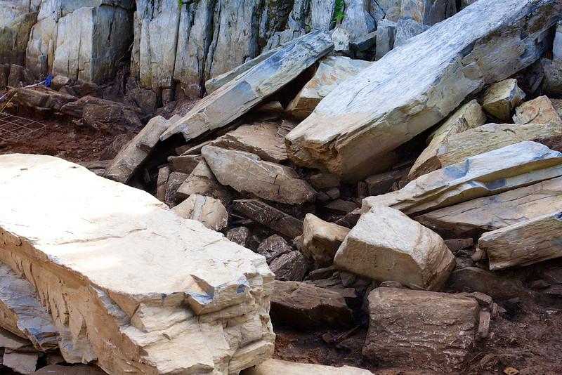 Altar stones or fallen rocks?