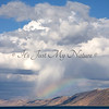 Rain Clouds and Rainbow over Bear Lake
