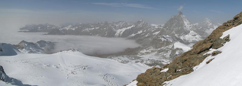 Panorama taken from the Klein Matterhorn.