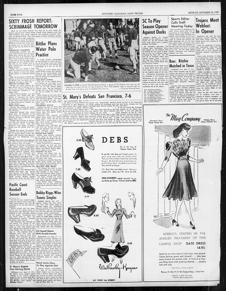 Daily Trojan, Vol. 31, No. 2, September 18, 1939