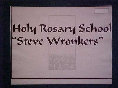 Holy Rosary School Fundraiser... May 13, 2000