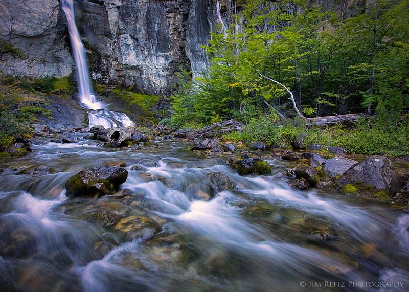 Chorillo del Salto waterfall near El Chalten, Argentina
