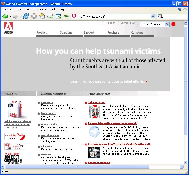 2005-01-04_Adobe_Home_Page_Featuring_Tsunami_Disaster_Relief.JPG