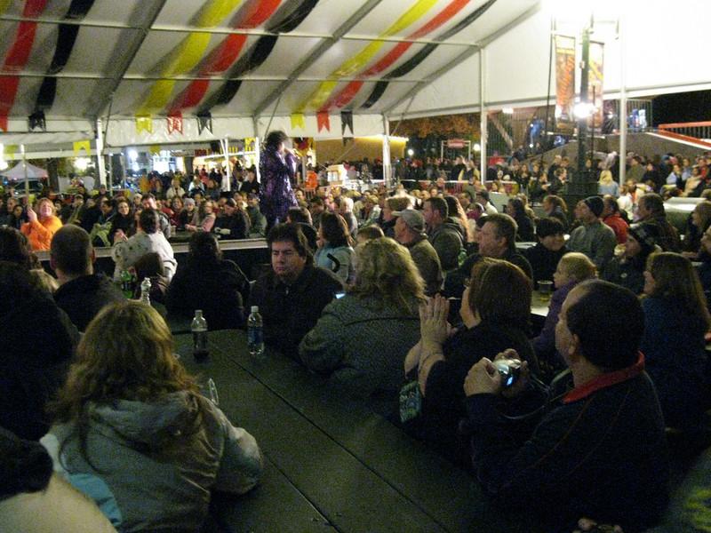 Prince under the Oktoberfest tent.